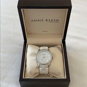 Anne Klein white watch